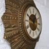 Small 1950s Sunburst Wall Clock 3
