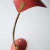 Vintage 1950s Red Desk Lamp 1
