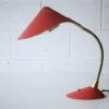 Vintage 1950s Red Desk Lamp