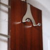 Vintage 1960s Rosewood and Chrome Coat Rack 1
