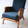1930s Blue Velvet Armchair 2