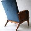 1930s Blue Velvet Armchair 4