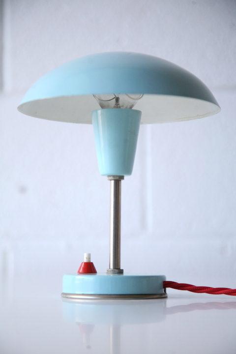 1950s Blue Desk lamp 2