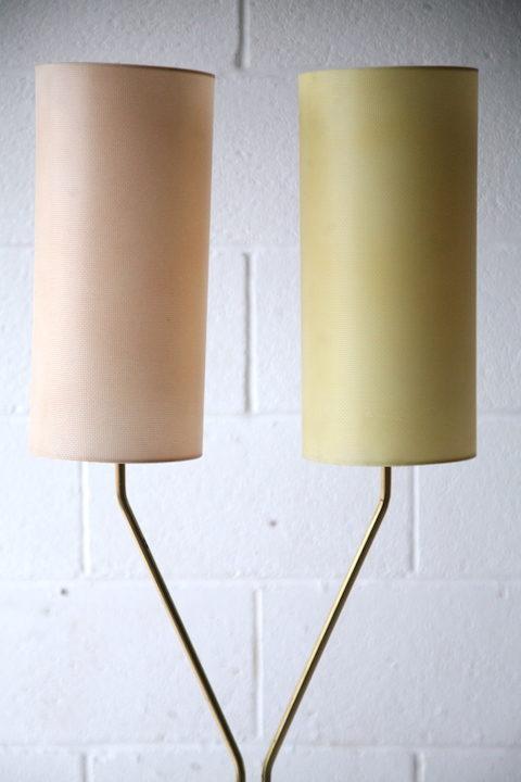 1950s Double Brass Floor Lamp