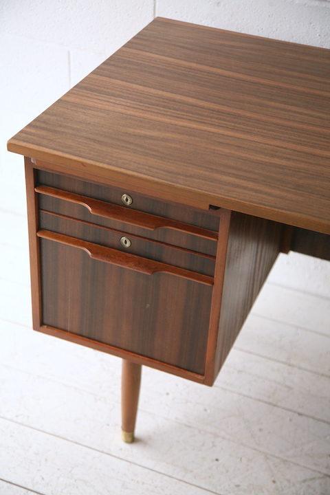 1960s Teak and Walnut Writing Desk