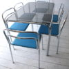 1970s Chrome Glass Dining Table and 6 Chairs 2