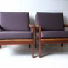 Pair of 1960s Wikkelso Lounge Chairs 1