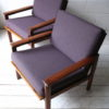 Pair of 1960s Wikkelso Lounge Chairs