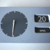 Vintage 1960s Date Clock by EA Combs 1
