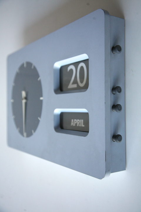 Vintage 1960s Date Clock by EA Combs