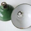 Vintage Industrial Green Enamel Light Shades 1