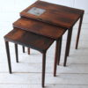 1960s Nest of Danish Rosewood Table