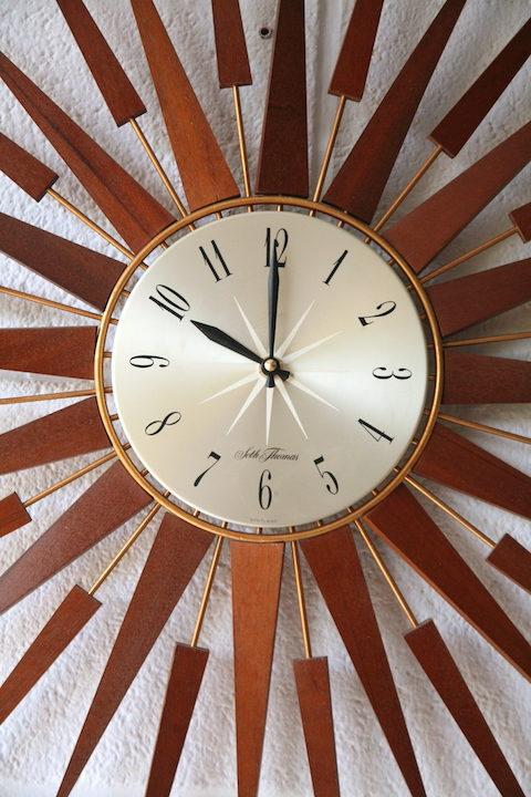 1960s Seth Thomas Sunburst Clock 2