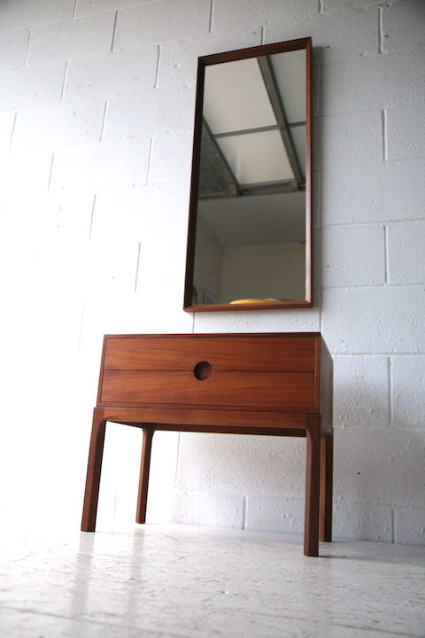 1960s Teak Hall Stand and Mirror by Aksel Kjersgaard Odder