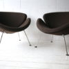 Brown Slice Chairs by Pierre Paulin for Artifort 3