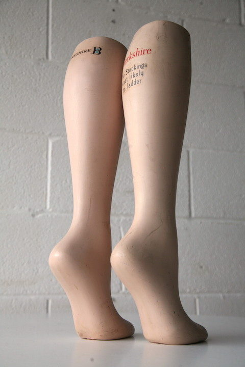 Vintage 'Berkshire Stockings' Advertising Legs