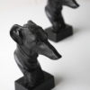 Vintage Pair of Bronze Dog Head Bookends