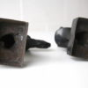 Vintage Pair of Bronze Dog Head Bookends 3
