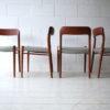 Vintage Teak Dining Chairs by Niels Moller Denmark 1