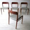 Vintage Teak Dining Chairs by Niels Moller Denmark 4