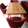 1950s Dining Table Chairs and Bench 2