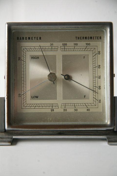 Art Deco Chrome Barometer