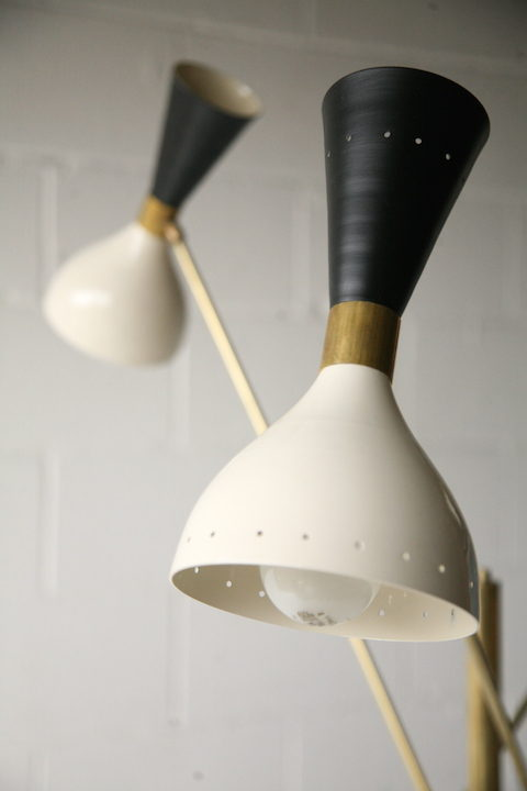 Large 1950s Italian Floor Lamp