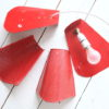 Vintage 1950s Red Wall Lights 1