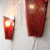 Vintage 1950s Red Wall Lights