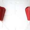 Vintage 1950s Red Wall Lights 4