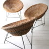 Vintage 1950s Wicker Chairs 1