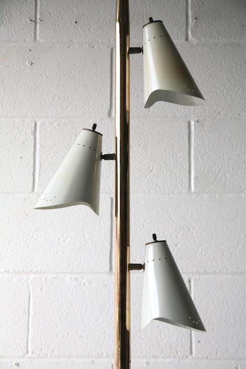 1950s American Triple Floor Lamp 2