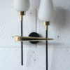 1950s French Brass Glass Wall Light