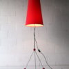 Large 1950s Atomic Chrome Floor Lamp and Shade