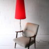 Large 1950s Atomic Chrome Floor Lamp and Shade 2
