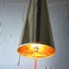 Large 1950s Steel Floor Lamp & Shade 5