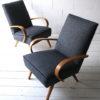 Pair of 1950s Beech Armchairs