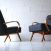 Pair of 1950s Beech Armchairs 2