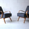 Pair of 1950s Beech Armchairs 6