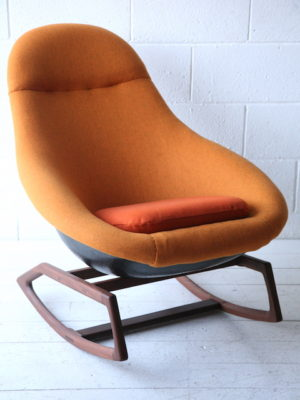 1960s 'Gemini' Rocking Chair by Lurashell 3