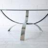 1970s Glass Chrome Table