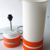 1970s Orange Table Lamp and Shade 1