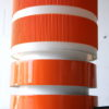 1970s Orange Table Lamp and Shade
