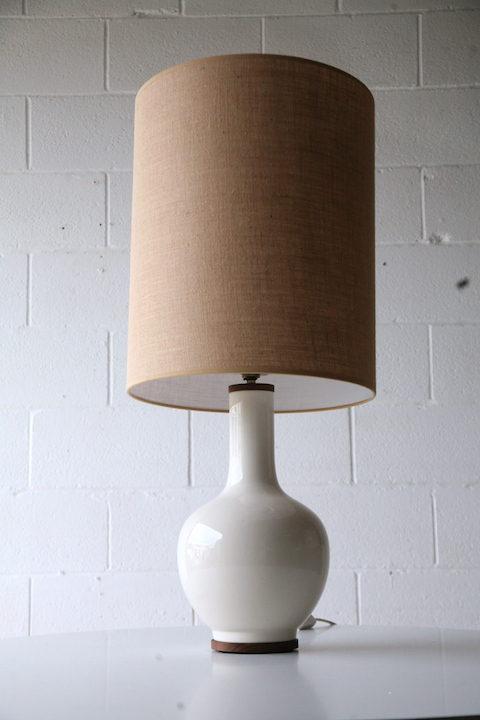 Large Ceramic Table Lamp & Shade 3