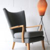 1950s French Tripod Floor Lamp with Pleated Shade 4
