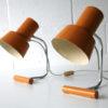 Pair of 1960s Orange Lamps 1