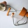 Pair of 1960s Orange Lamps