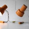 Pair of 1960s Orange Lamps 2