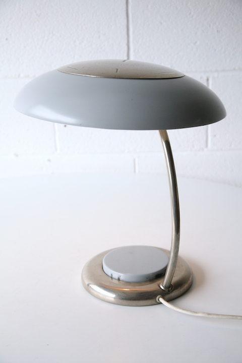 Vintage Grey 1960s Desk Lamp 4