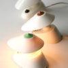 White Bakelite Czechoslovakian Lamps